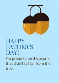 fathers day Tree Card