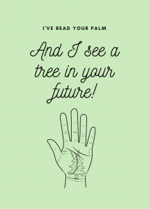 Palmistry Tree Card