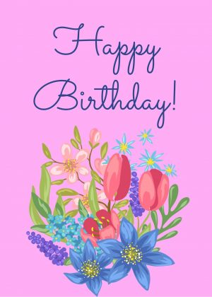 Floral Birthday Virtual Card