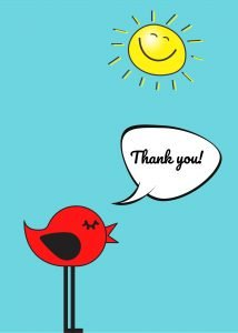 Thank you Birdie Ecard